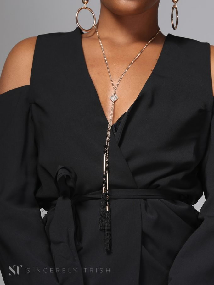 Tiffany cold shoulder blazer 3