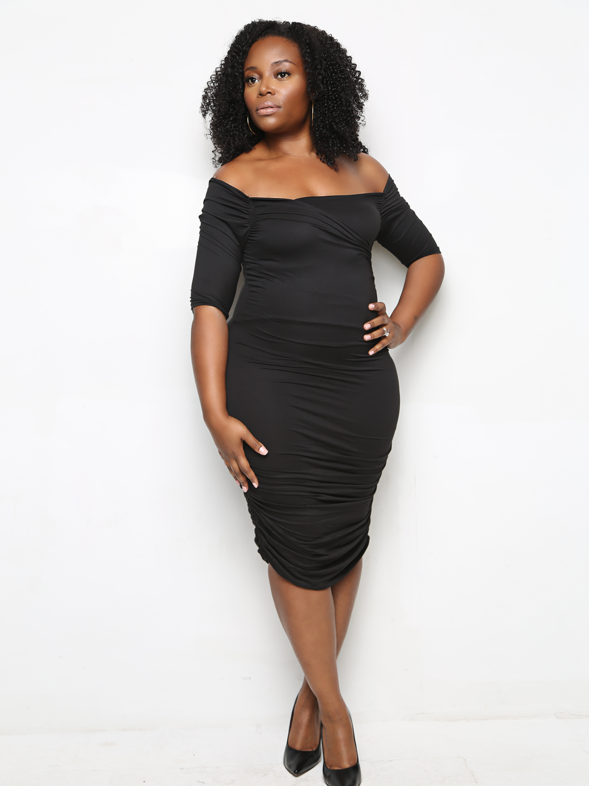 Black-open-neck-bandange-plus-size-dress-Sincerely-Trish-Boutique-2 ...