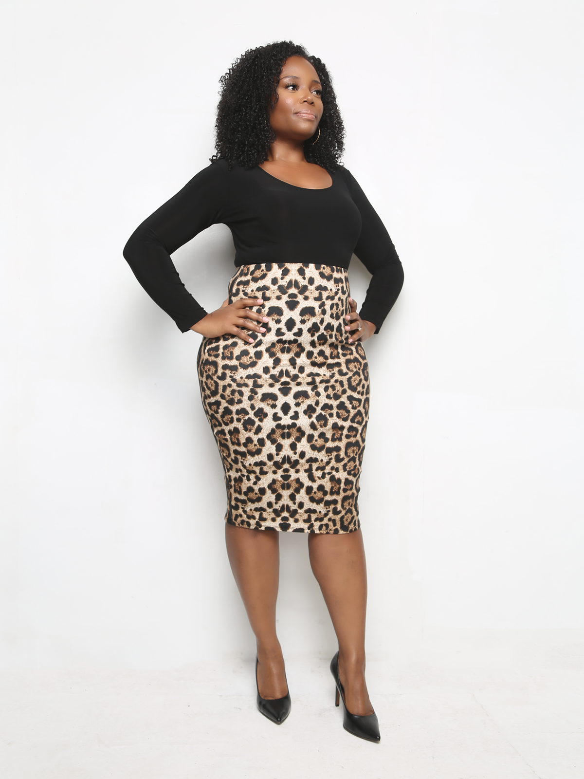Leopard-High-waisted-animal-print-midi-skirt-plus-size-Sincerely ... 2077811d5