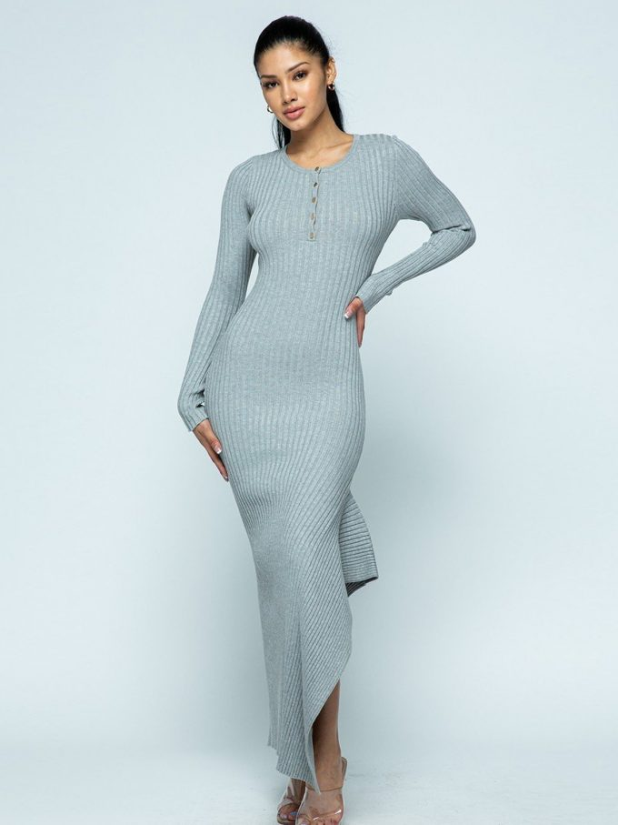 Allison Knit Dress (Grey) 2