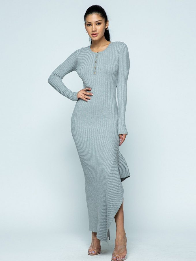 Allison Knit Dress (Grey) 3