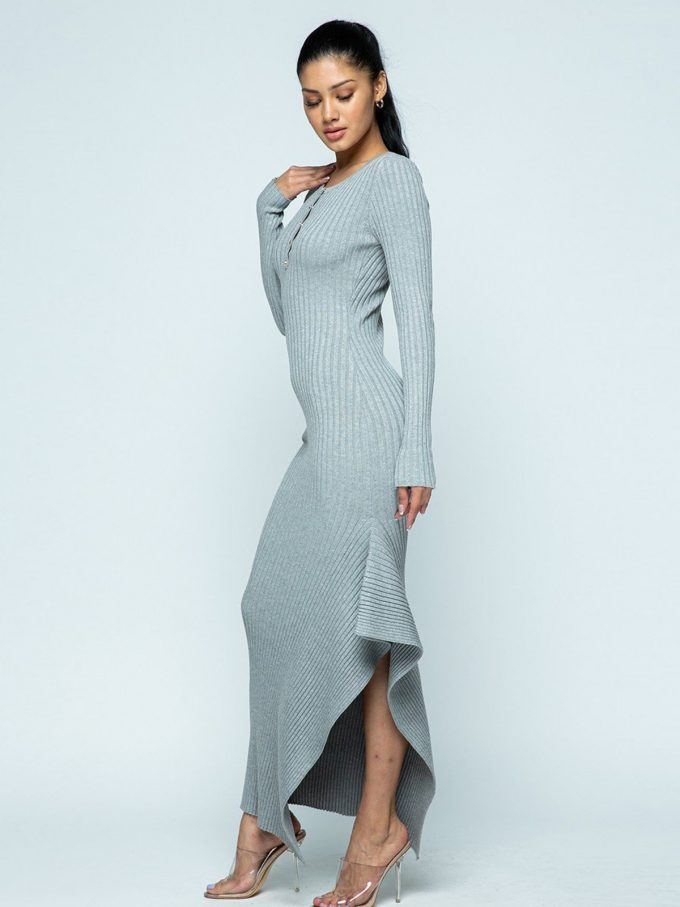 Allison Knit Dress (Grey) 4