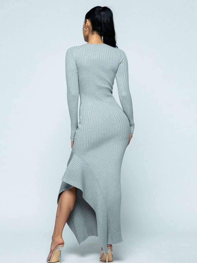 Allison Knit Dress (Grey) 6