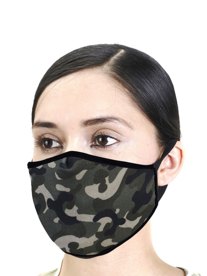 Army Print Fashion Mask 1