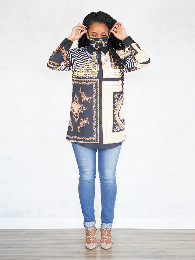 Royalty Top and Mask Set-Black 2