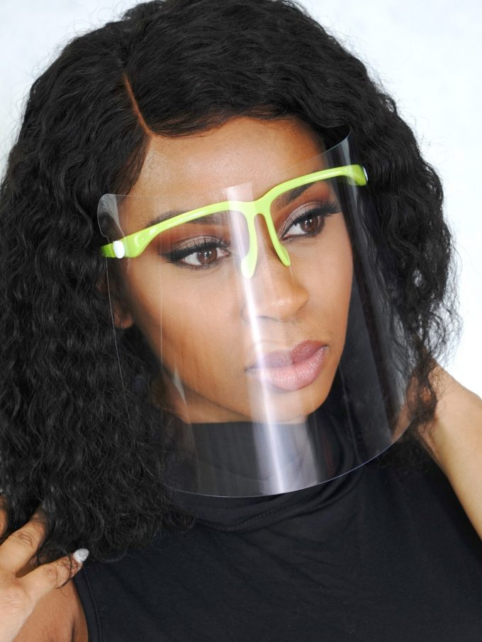 Cover Me clear face shield-Neon 1