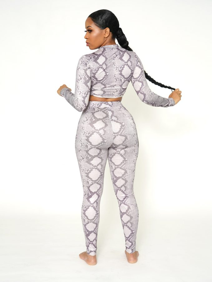 Julie Two Piece Legging Set-Snake 2