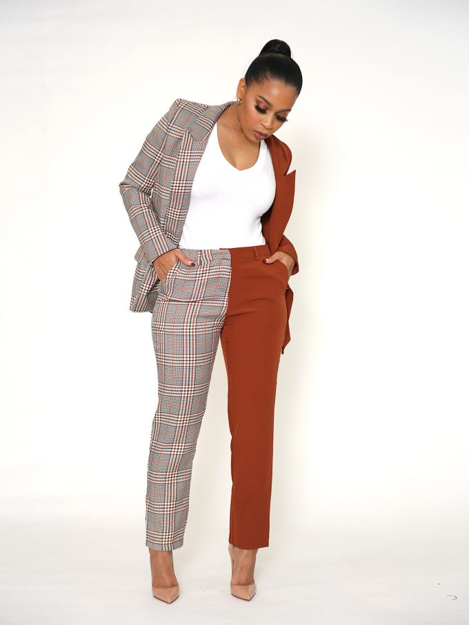 Half and Half Two Tone Suit 15